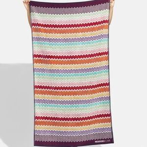 Missoni home rufus Terry beach towel zigzag chevro
